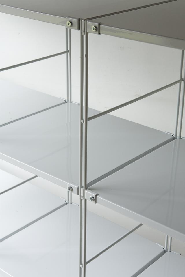 無印良品のスチールユニットシェルフ・グレー棚セット、W150.5×D41×H120cm-03