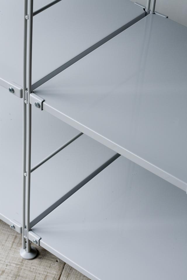 無印良品のスチールユニットシェルフ・グレー棚セット、W150.5×D41×H120cm-04