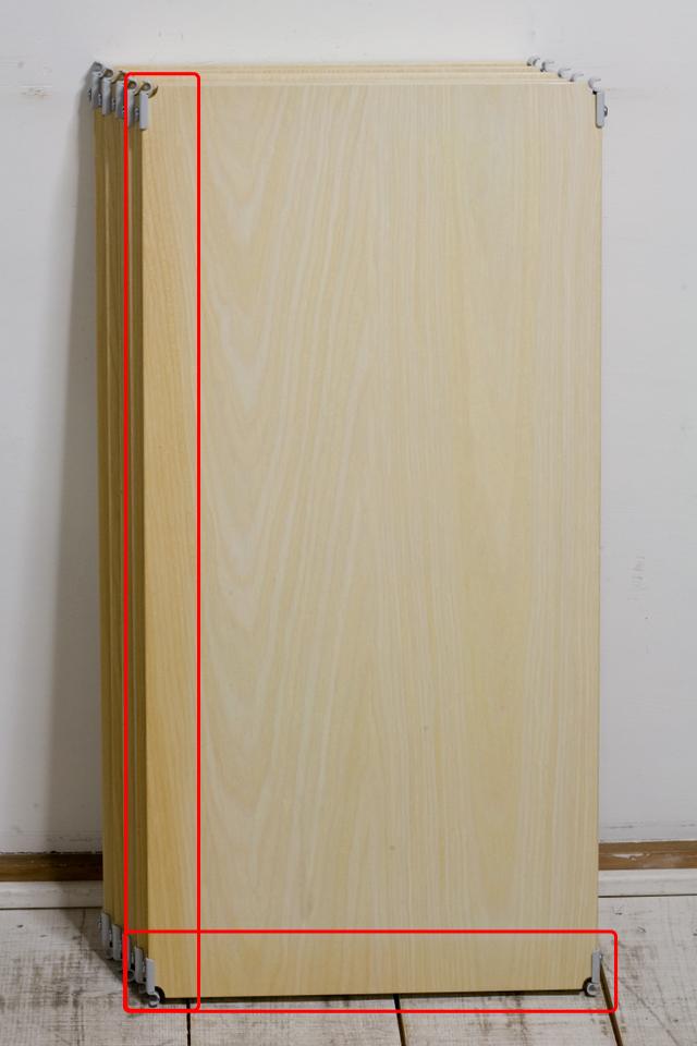中古無印良品「スチールユニットシェルフ・木製棚セット・ワイド大・グレー」-04