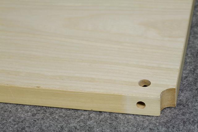 中古無印良品「スチールユニットシェルフ・木製棚セット・ワイド大・グレー」-06