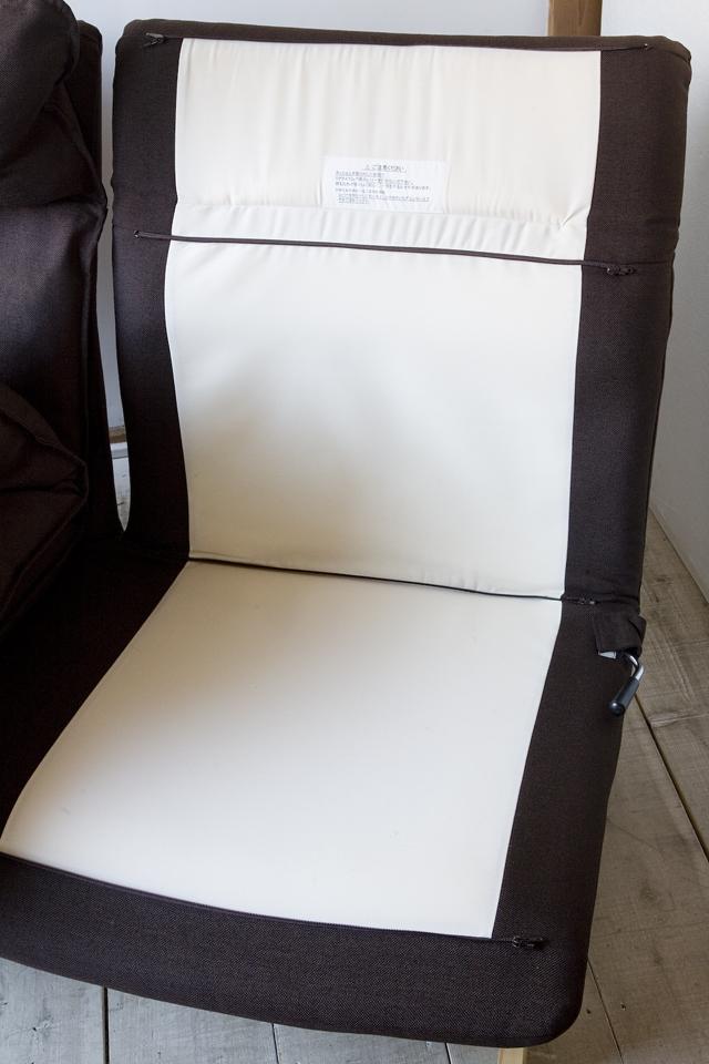無印良品:MUJIの「ハイバックリクライニングソファ」-10