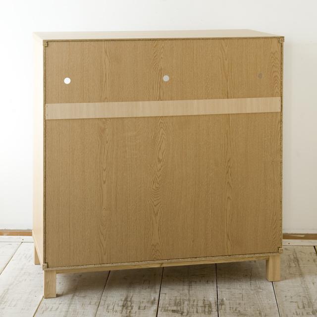 中古無印良品:MUJIの「組み合わせて使える木製収納・本体・ロータイプ・奥行40cm・タモ材」-02