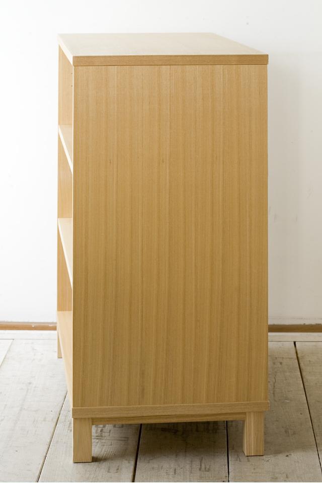 中古無印良品:MUJIの「組み合わせて使える木製収納・本体・ロータイプ・奥行40cm・タモ材」-03