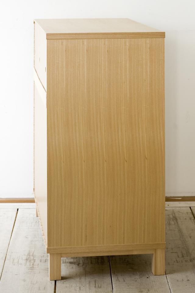 中古無印良品:MUJIの「組み合わせて使える木製収納・本体・ロータイプ・奥行40cm・タモ材」-04