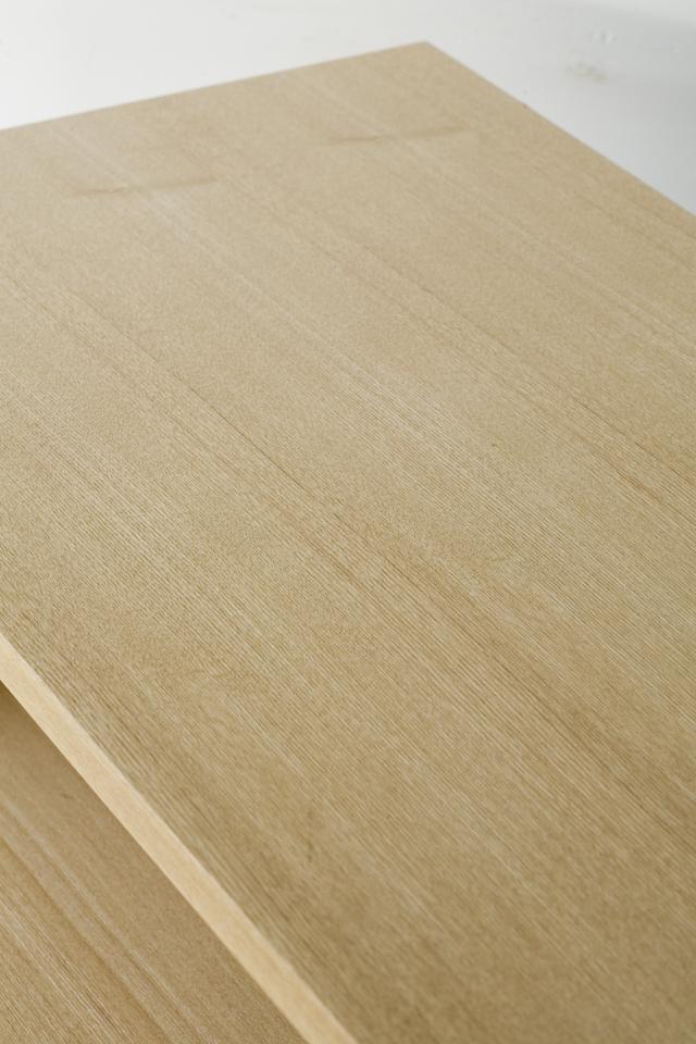 中古無印良品:MUJIの「組み合わせて使える木製収納・本体・ロータイプ・奥行40cm・タモ材」-06