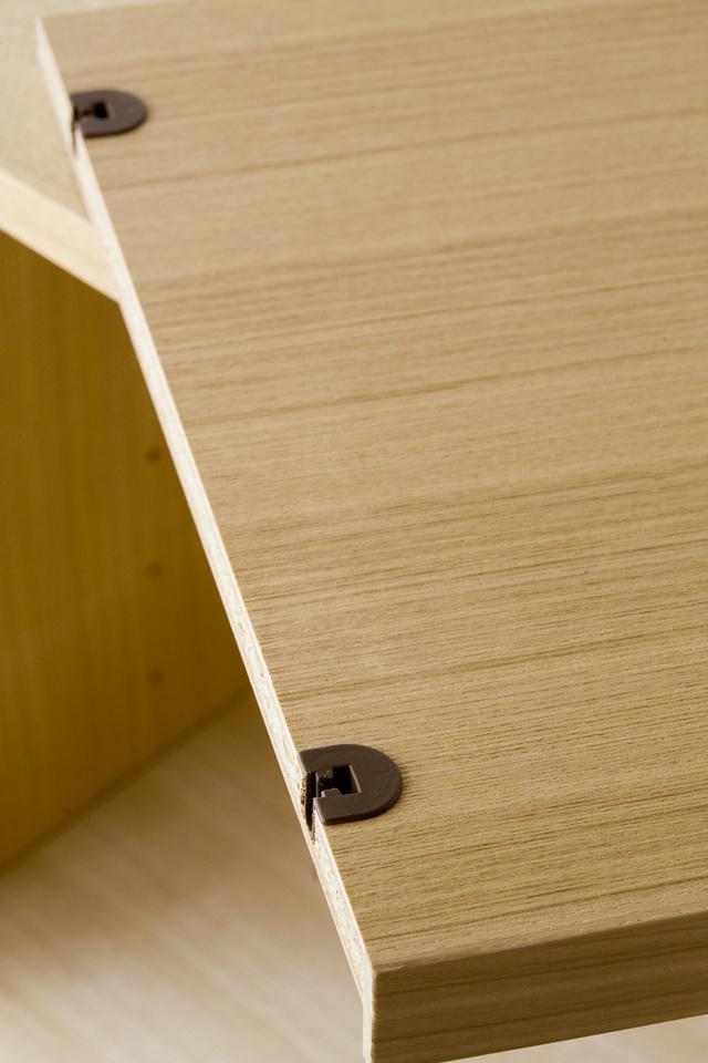 中古無印良品:MUJIの「組み合わせて使える木製収納・本体・ロータイプ・奥行40cm・タモ材」-11