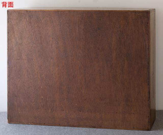 アンティークな古い木製レターケース-07a