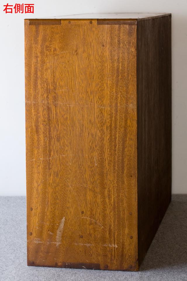 アンティークな古い木製レターケース-08