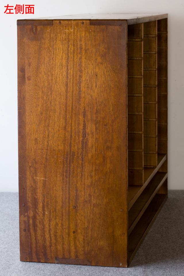 アンティークな古い木製レターケース-10a