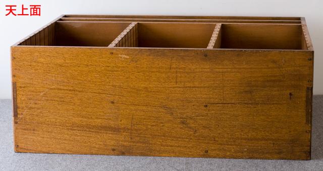 アンティークな古い木製レターケース-11a