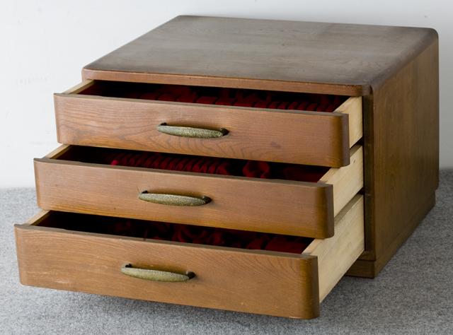 純銀:シルバーカトラリー木製収納ケース-11