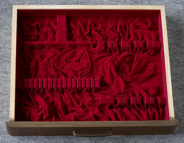純銀:シルバーカトラリー木製収納ケース-15