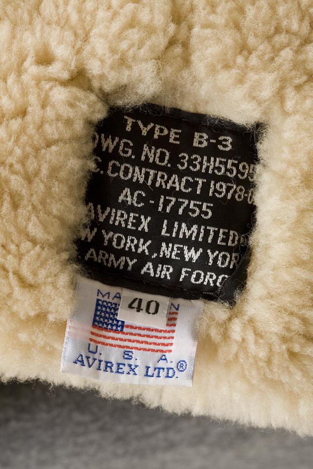 AVIREX:アヴィレックスのレザーフライトジャケット「B-3」-20