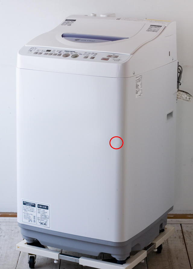 SHARP:シャープのタテ型洗濯乾燥機「ES-TG55L」-01