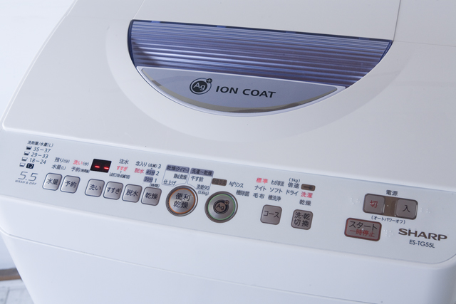 SHARP:シャープのタテ型洗濯乾燥機「ES-TG55L」-08