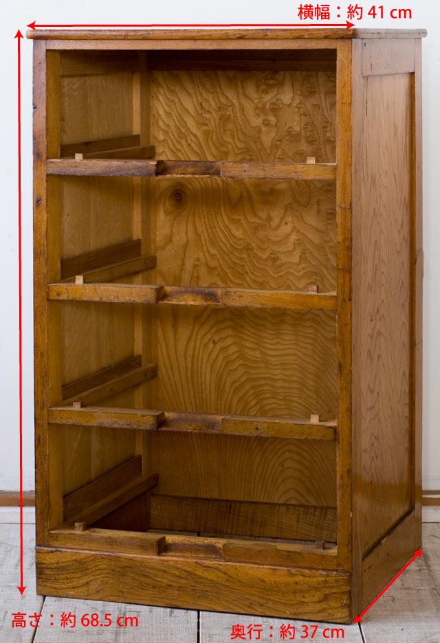 アンティークな古い木製チェスト-12a