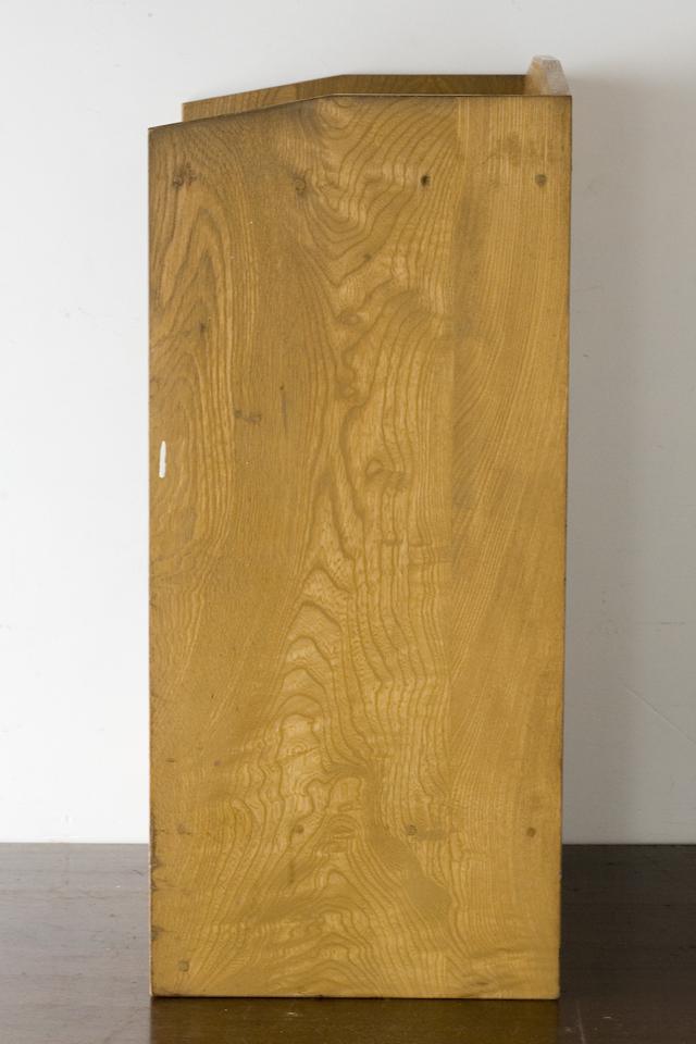 アンティークな古い木製レターケース・カルテ入れ・書類棚・小引出-03