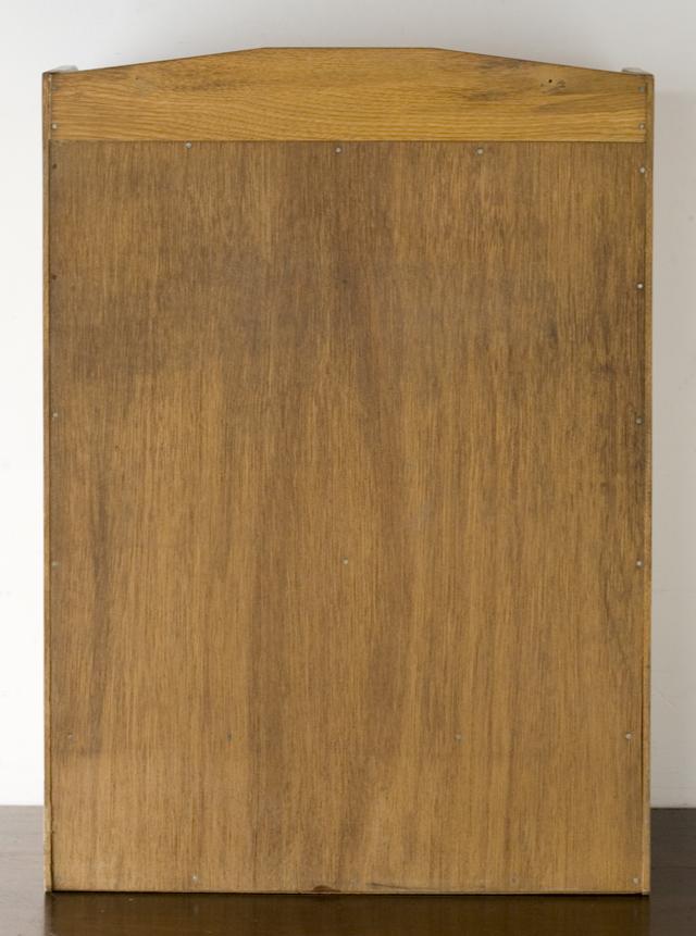 アンティークな古い木製レターケース・カルテ入れ・書類棚・小引出-04