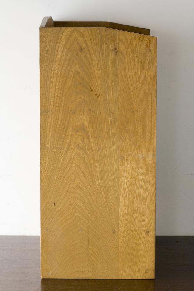 アンティークな古い木製レターケース・カルテ入れ・書類棚・小引出-05