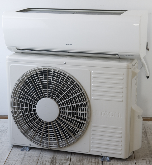 HITACHI:日立のルームエアコン、ステンレスクリーン・白くまくん「RAS-V25B」2013年製-01