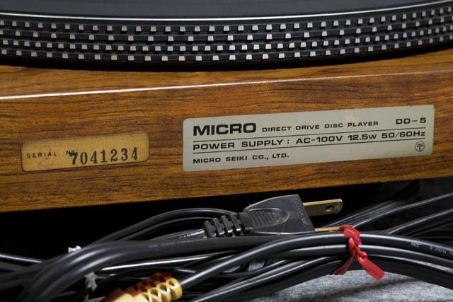 MICRO:マイクロのレコードプレーヤー「DD-5」-05