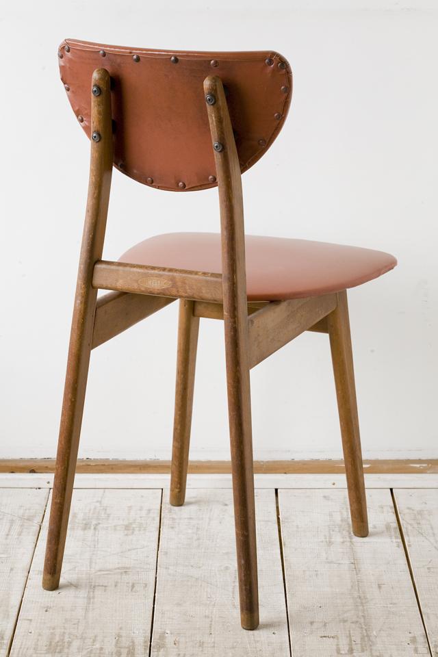 アンティークチェア、昭和レトロな小さめの椅子-02