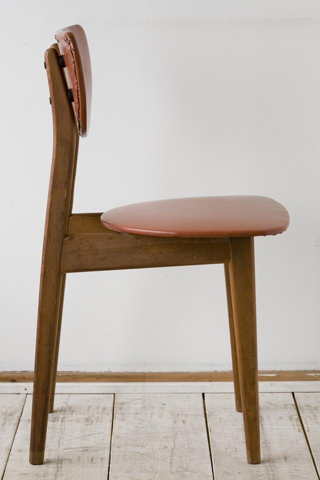 アンティークチェア、昭和レトロな小さめの椅子-06