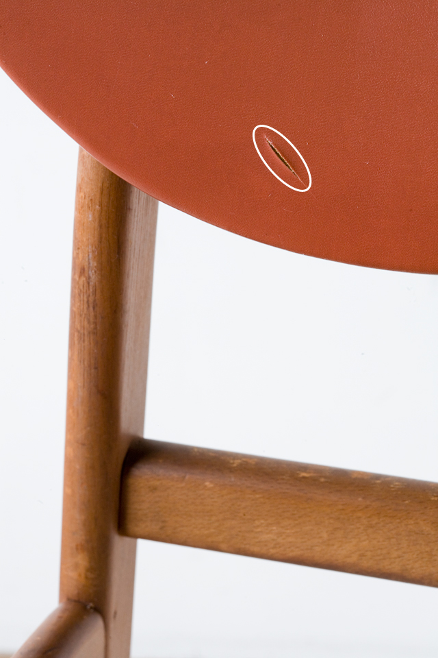 アンティークチェア、昭和レトロな小さめの椅子-07a