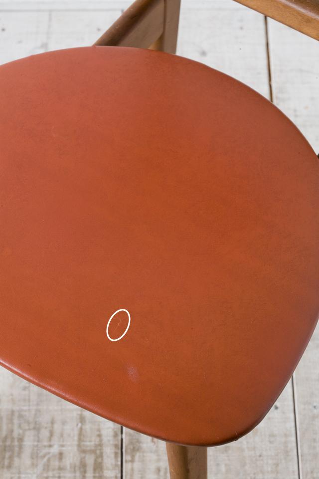 アンティークチェア、昭和レトロな小さめの椅子-10a