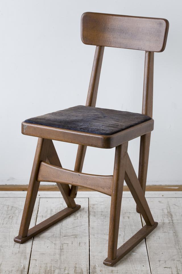 アンティークチェア、昭和レトロな小さめの椅子-01
