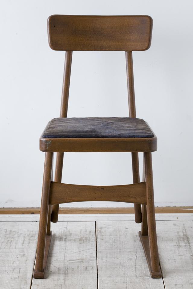 アンティークチェア、昭和レトロな小さめの椅子-03