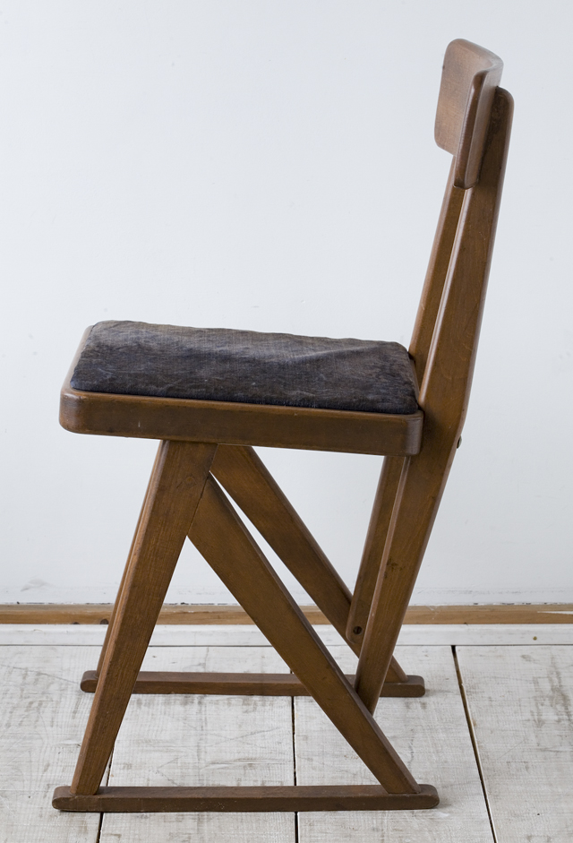 アンティークチェア、昭和レトロな小さめの椅子-04