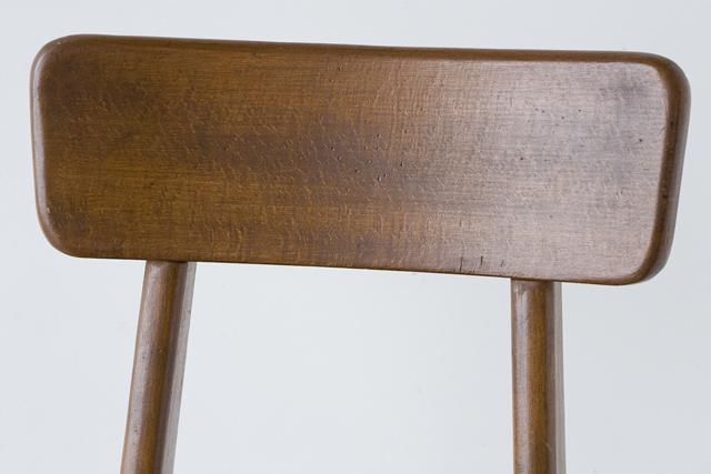 アンティークチェア、昭和レトロな小さめの椅子-07