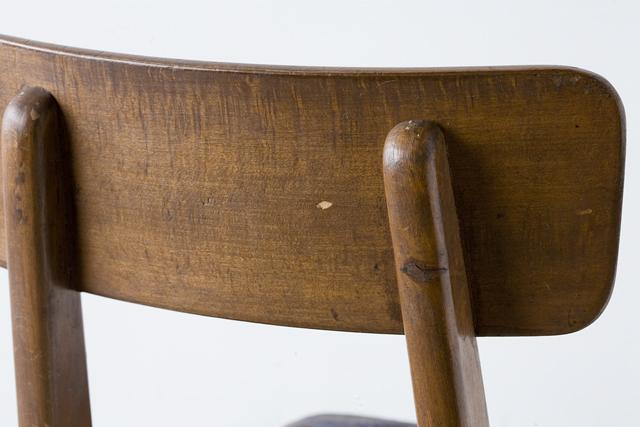 アンティークチェア、昭和レトロな小さめの椅子-08