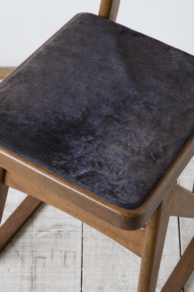 アンティークチェア、昭和レトロな小さめの椅子-10