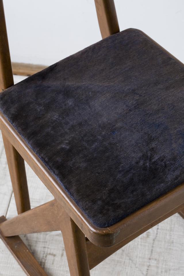 アンティークチェア、昭和レトロな小さめの椅子-11