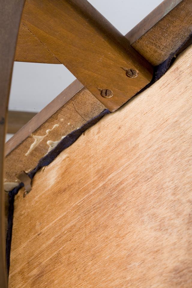 アンティークチェア、昭和レトロな小さめの椅子-18
