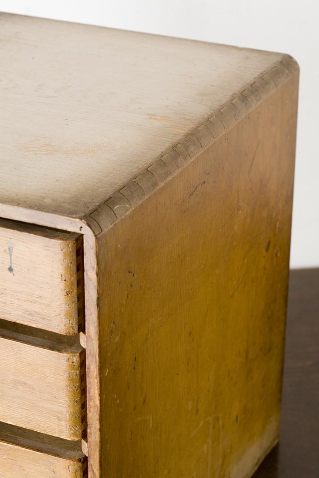 アンティークな古い木製小引出-10