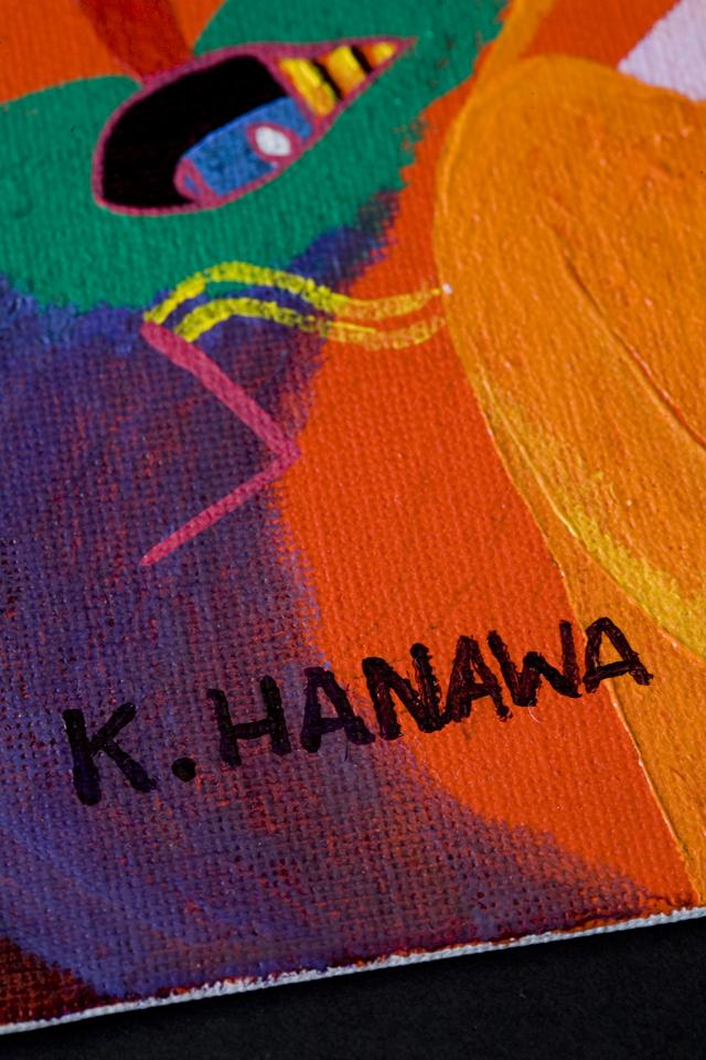 塙賢三:HANAWA KENZOの油絵「道化」-02