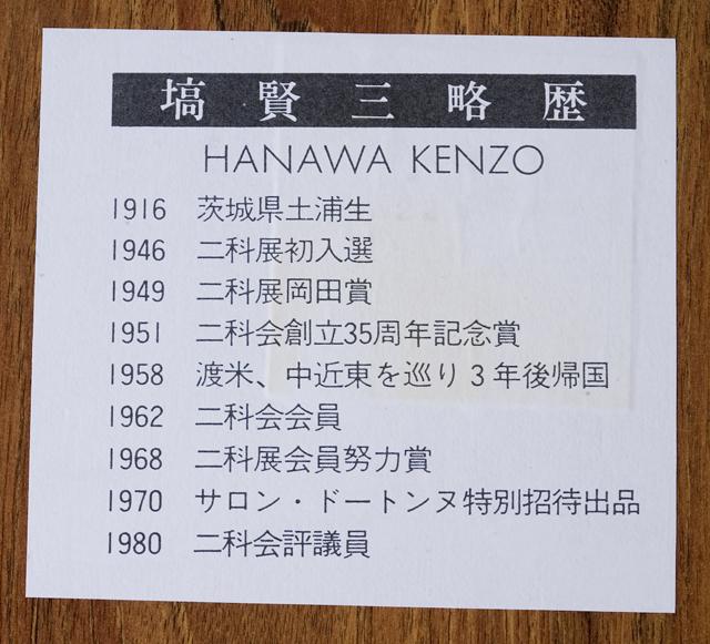 塙賢三:HANAWA KENZOの油絵「道化」-04
