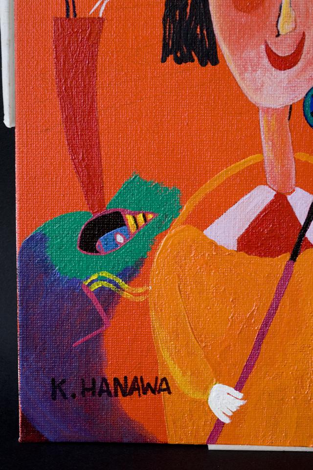 塙賢三:HANAWA KENZOの油絵「道化」-13