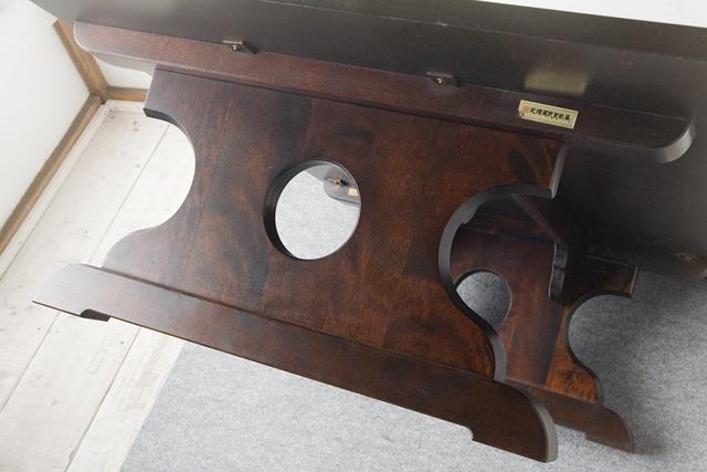 北海道民芸家具の座卓(折りたたみ式)「HM410」-12