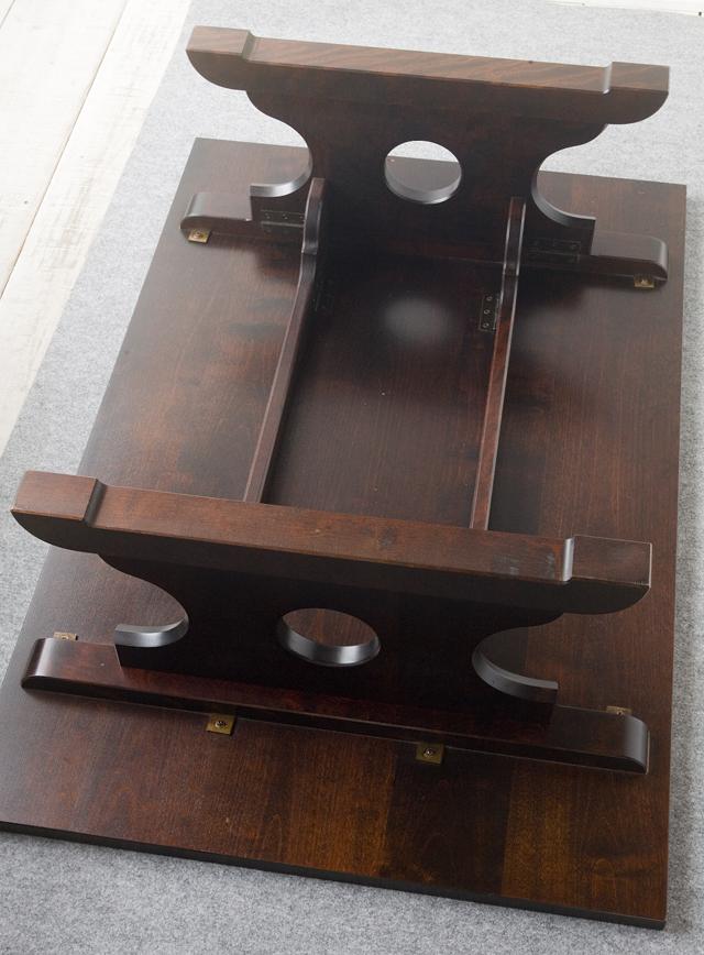 北海道民芸家具の座卓(折りたたみ式)「HM410」-13