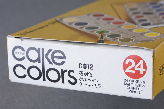 holbein:ホルベインのcake colors:ケーキ・カラー「ARTISTS' WATER COLORS:固形水彩絵の具24色セット」-03