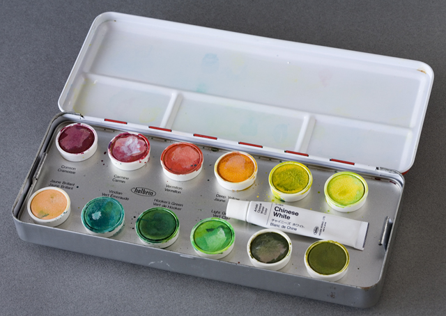 holbein:ホルベインのcake colors:ケーキ・カラー「ARTISTS' WATER COLORS:固形水彩絵の具24色セット」-05