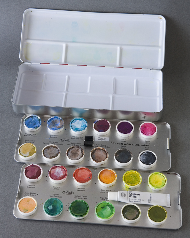 holbein:ホルベインのcake colors:ケーキ・カラー「ARTISTS' WATER COLORS:固形水彩絵の具24色セット」-06