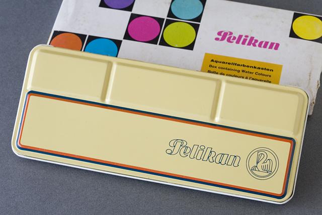Pelikan:ペリカンのドイツ製「固形水彩絵の具12色セット」-04