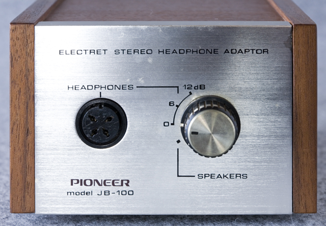 Pioneer:パイオニアのヘッドホン:SE-100とアダプター:JB-100-03