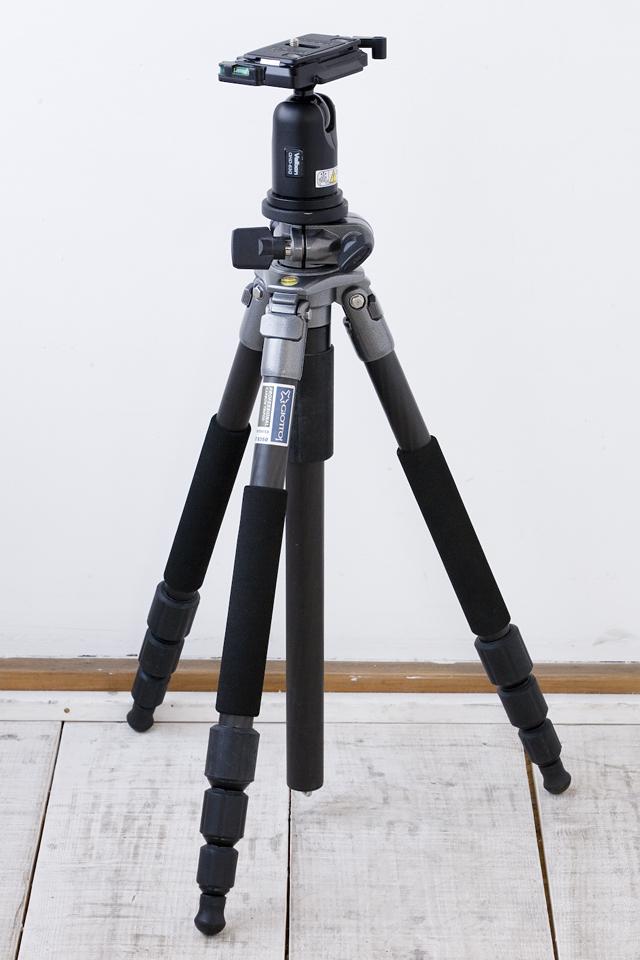 GIOTTOS:ジオットスのカーボン三脚「MT8350」とVelbon:ベルボンの自由雲台「QHD-63Q」のセット-01