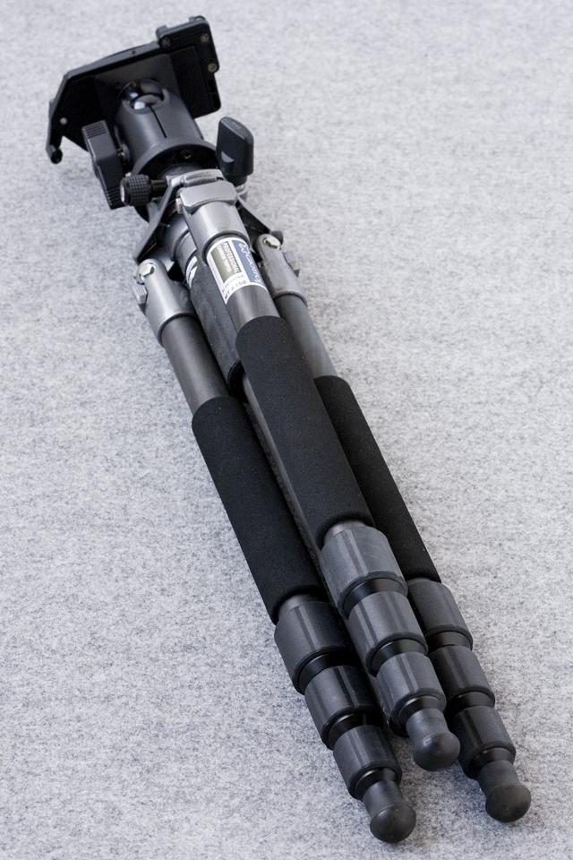 GIOTTOS:ジオットスのカーボン三脚「MT8350」とVelbon:ベルボンの自由雲台「QHD-63Q」のセット-08